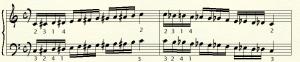 scala cromatica es 1 - quattro dita