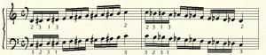 scala cromatica es 1 - tre dita