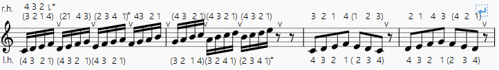 es. 6 maj. scale C for chromharp