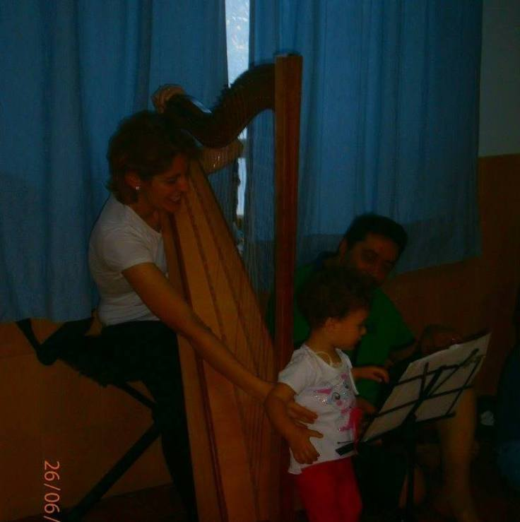Gordon session concert from kids (0-3 years) Vanessa D'Aversa M° Cross Strung Harfe 66